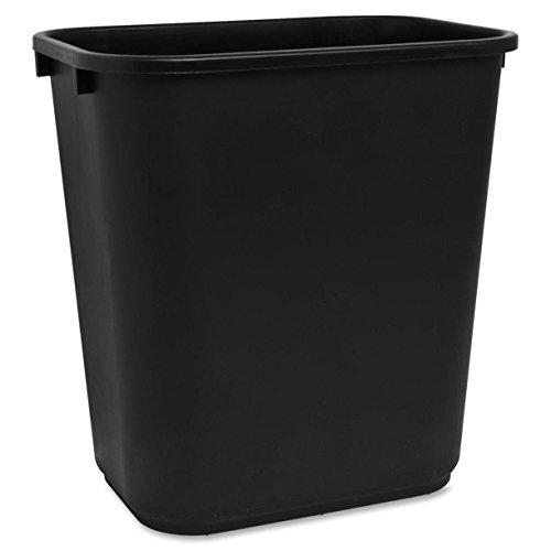 Sparco Rectangular 7 Gal. Black Wastebasket (SPR02160)