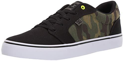 DC Men's Anvil TX SE Skate Shoe, Black/camo Print, 9 M US