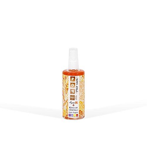 Pop Italy Cristalli Liquidi Ristrutturanti per Capelli con Cheratina e olio d'Argan - 100 ml