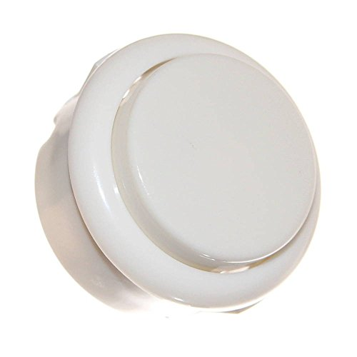 1x 33mm Pinball Button rund Weiß Microswitch Einbau-Taster Neu White Drucktaster Switch rund Flipperautomat Arcade Joy-Button