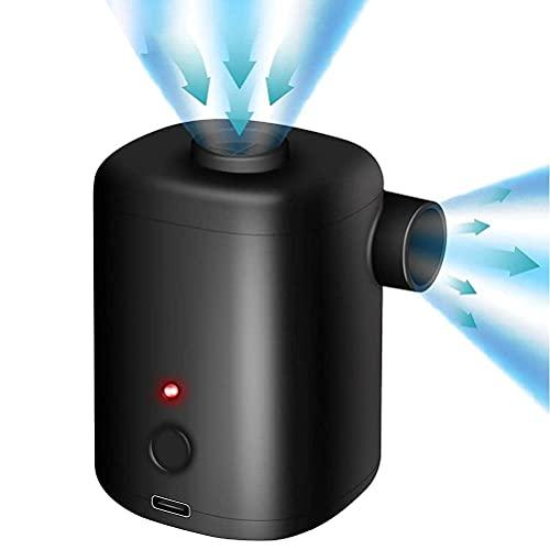 RDJSHOP Bomba Eléctrica para Inflables con Batería Recargable de 3000Mah Y 4...