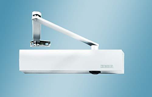 Türschließer GEZE TS4000 TS 4000, RAL 9016 WEIß Komplettpaket inkl. Montageplatte und Normalgestänge