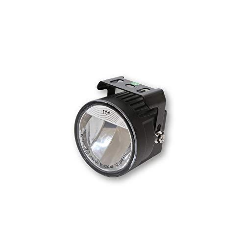 HIGHSIDER LED-Nebelscheinwerfer mit einer High Power LED, rund, schwarz, E-geprüft.12 V
