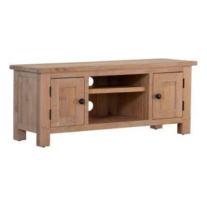 Luxus Home And Garden - Mueble de TV (2 puertas, con estante), color blanco