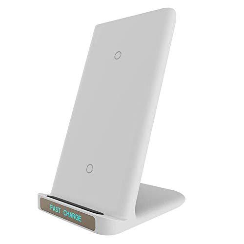 OH Mini Cargador de Carga Inalámbrica Magnética Soporte sin Cable Compatible para Iphone X Xr - Negro Carga directa inalámbrica/Blanco