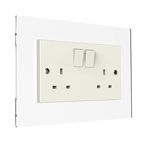 Double Clear Acrylic Light Plug Socket Switch Surround Acrylic Finger Plate Panel