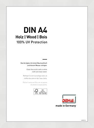 DEHA Holz Bilderrahmen Fontana, 21x29,7 cm (A4), Weiß
