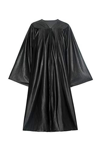 SHANSHAN Unisex-Erwachsenen-Chor-Bademantel für Konfirmation, Taufkleid, religiöses Tragen, Abschlussfeier, Schwarz - Schwarz - 60(6'3