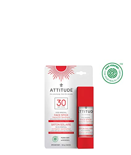 ATTITUDE mineralischer Sonnenschutzstick LSF30 für Gesicht & Lippen (1 x 18,4 g)