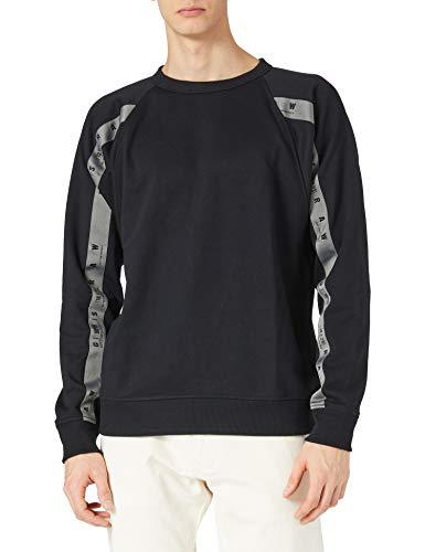 G-STAR RAW Mens Raglan Taping Sweatshirt, dk Black A613-6484, XL