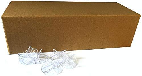 Fugenkreuz mit Teller 100 Stk. 3mm Fuge zur Plattenverlegung im Splittbett transparent unsichtbar