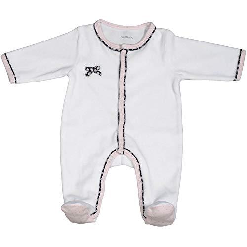 Pyjama bébé blanc naissance Miss Fleur de Lune - Sauthon