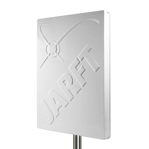 JARFT J4GMB-14 LTE Richtantenne inkl. 10m Kabel - 14dBi, Wetterfest, 800/1800/2600 MHz Multiband 4G Antenne passend für LTE Router (wie z.B. Speedport, Speedbox, EasyBox, FritzBox)