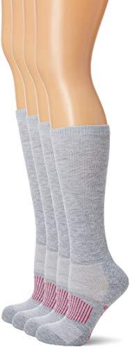 Wrangler Women's Western Boot Socks 3 Pair Pack, Grey, Medium
