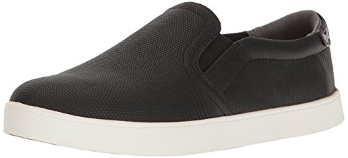 Dr. Scholl's Shoes Women's Madison Fashion Sneaker, Black/Black Lizard Print, 7.5 M US