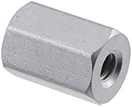 Pack of 5 #4-40 Screw Size Brass Hex Standoff Zinc Plated 0.187 OD Female 1.187 Length,