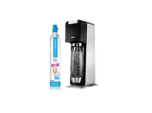 SodaStream POWER Elektronischer Wassersprudler, macht vollautomatisch aus Leitungswasser Sprudelwasser – ohne schleppen! mit 1 Zylinder und 1L PET Flasche (BPA frei); Farbe: schwarz - 2