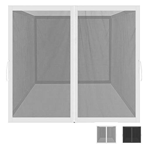 Mosquito Net for Outdoor Patio and Garden, Screen House for Camping and Deck , Outdoor Gazebo Screenroom , Zippered Mesh Sidewalls for 10x 10' Gazebo and Tent (Mosquito Net Only White)