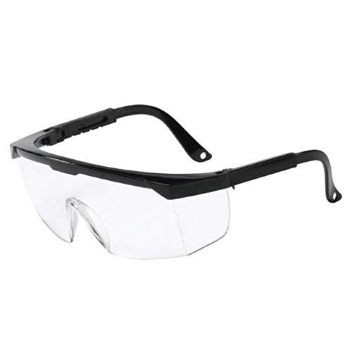 Exceart Labor Schutzbrille Chemie Arbeitsschutzbrille Sicherheitsbrille Klar Augenschutzbrille für Arzt Zahnarzt Augenschutz Brille Spritzschutz Visier
