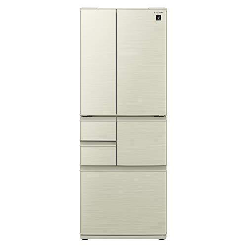 シャープ SHARP プラズマクラスター冷蔵庫(幅68.5cm) 502L 観音開き メガフリーザー 6ドア シャンパンゴールド SJ-F501E-N