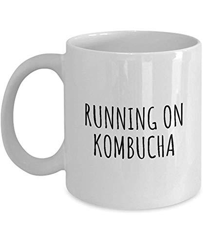 Taza de café divertida Tazas personalizadas Taza de impresión de 11 onzas Amigo Cumpleaños Familia Regalo-Correr en Kombucha