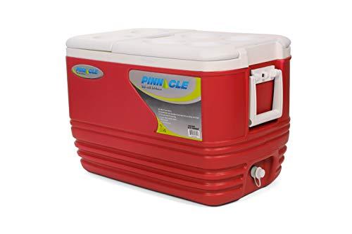 O'Camp - Glacière - Contenance : 57 Litres - Facile d'utilisation - Rouge