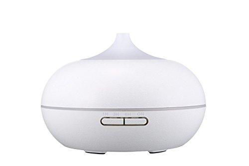 300ml Diffuseur d'Huiles Essentielles/Humidificateur Ultrasonique/Diffuseur Aroma de Parfum/diffuser aroma (Fonction d'Extinction Automatique, 9H d'Autonomie)