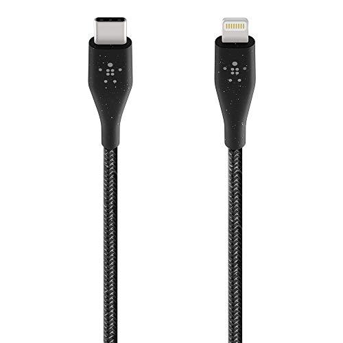 Belkin Boost Charge cable USB-C con conector Lightning + cinta, fabricado con DuraTek, able de USB-C a Lightning para iPhone12, 12Pro, 12Pro Max, 12 mini y anteriores, longitud de 1.2 m, negro