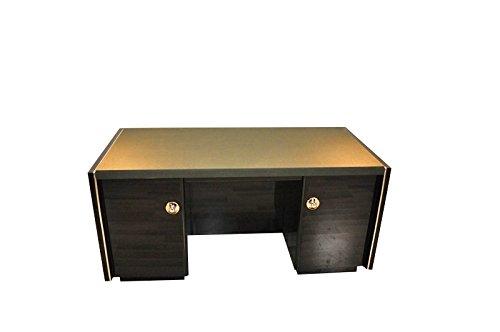 OAM Massiver Art Deco Schreibtisch mit Lederplatte