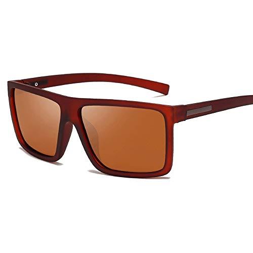 Gafas De Sol para Hombre Y Mujer Moda Polarizadas Gafas ProteccióN para ConduccióN Gafas De Deportes Al Aire Libre De Pesca De Moda Regalo de San Valentín (Color : Brown)