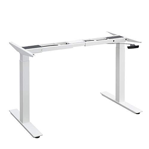 Balderia Patas de mesa ajustables en altura – Escritorio eléctrico ajustable – Estructura de mesa con doble motor – Altura 68,5 – 116,5 cm, color blanco