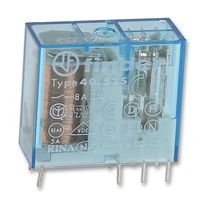 4052-8024   40.52.8.024.0000   FINDER GENERAL PURPOSE PCB RELAY, 40 SERIES, POWER, DPDT, 24 VAC, 8 A