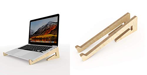 Callas Bamboo Portable Laptop Stand, Ventilated Laptop Stand for Home/Office/Outdoor (26 x 1.6 x 8 cm) CA-LS04