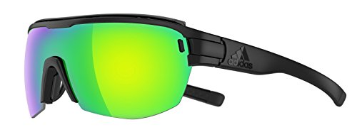 adidas Brille zonyk aero Midcut pro ad11 Large 9100 Black matt Green Mirror