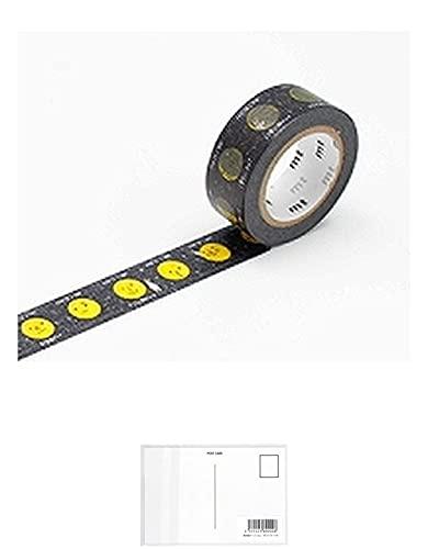 MT 和紙マスキングテープ 子供用 月 15mm x 7m (MT01KID024) + 画材屋ドットコム ポストカードA