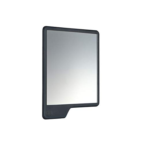 TOOLETRIES Mighty Mirror - anti-fog shower mirror. 100% silicone. SHATTERPROOF mirror. Grips to shiny surfaces. No suction cups | No adhesives (Charcoal (Large))