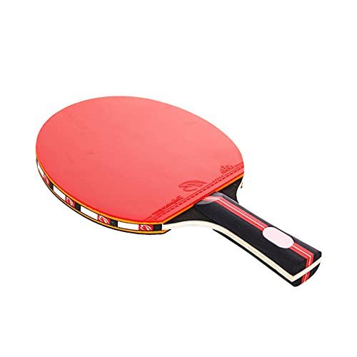 OhhGo Raqueta de tenis de mesa de ping pong raqueta de agarre de apretón de manos raquetas 2 raquetas 3 bolas para practicar