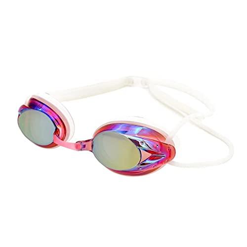JKLO 2 unids natación Gafas Profesional Arena Carreras Juego Nadando Anti-Niebla Gafas Gafas Coloridas 910 (Color : R, Size : One Size)