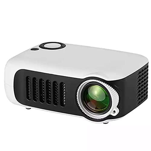 FGVBC Nuevo Mini Proyector A2000 320x240 Pixeles 800 Lúmenes Reproductor de Video Multimedia para el Hogar LED Portátil Altavoz Incorporado (Color: Blanco)