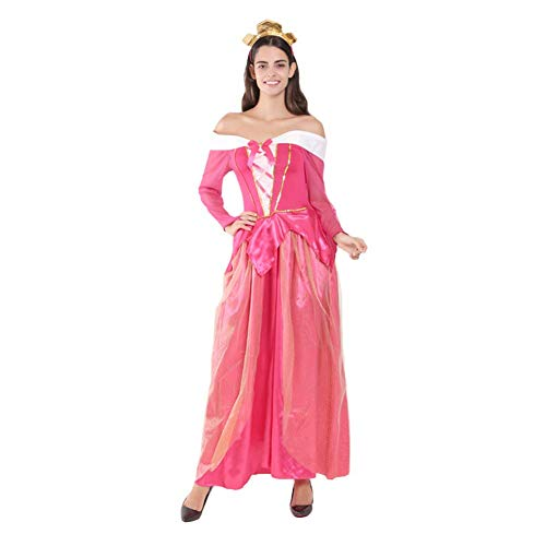OwlFay Damen Prinzessin Aurora kostüm Dornröschen Märchen Kostüm mit Stirnband Fancy Dress Up Karneval Cosplay Halloween Partykleid