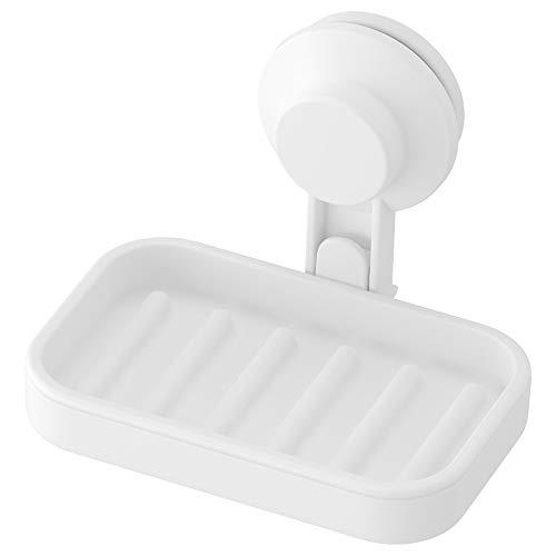 IKEA TISKEN Seifenschale mit Saugnapf, Weiß