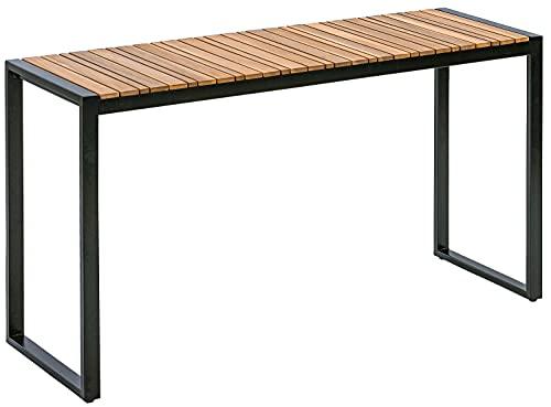 Dehner Balkontisch Chicago Wood,ca.133 x 74.5 x 42 cm, FSC® Akazienholz/Metall, braun/schwarz