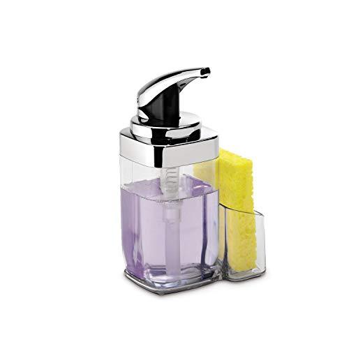 simplehuman 22 oz. Square Push Pump Soap Dispenser, Chrome