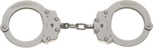 Peerless Handcuff Company Chain Link Handcuff, Nickel Finish
