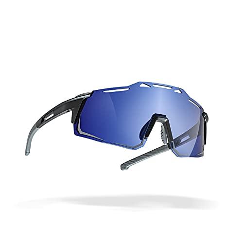 Gafas de Sol Deportivas Polarizadas, Decoloración UV400 y Gafas Protectoras Deportivas Ajustables a Prueba de Viento para Mujeres y Hombres en Correr, Ciclismo, Pesca, Golf