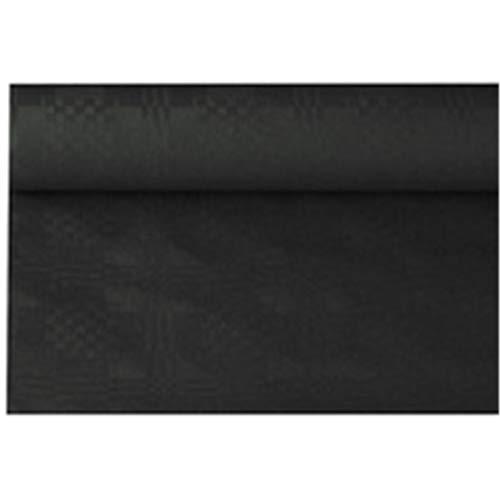 Papstar 11351 Papiertischtuch mit Damastprägung 8 m x 1,2 m, schwarz