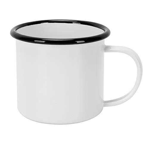 Taza de esmalte, taza de café resistente a la abrasión práctica para beber(white)