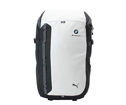 Puma BMW M MSP Backpack, Unisex Adulto, White/Anthracite, OSFA