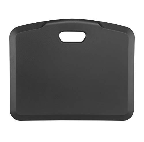 LogiLink EO0034 - Tragbare Stehhilfe/Anti-Ermüdungsmatte aus wasserbeständigem Schaumstoff, ideal bei langem Stehen Schwarz
