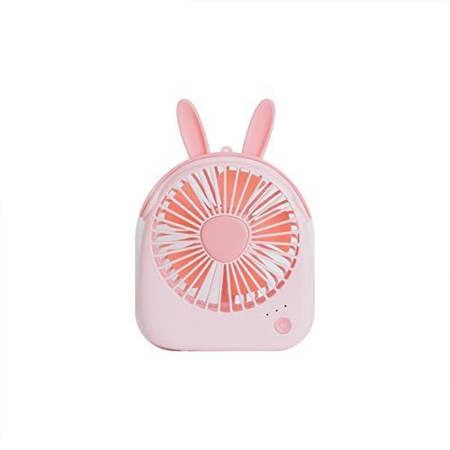 USB-ventilator, draagbare mini-tafelventilator, stil, 3 snelheden, verstelbaar, voor huis, kantoor, reizen in de open lucht, koelen in de warme zomer. Roze.